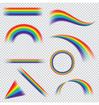 colorful realistic multicolored rainbow on vector image