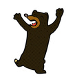 comic cartoon black bear vector image vector image