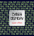 cyber monday theme is a square banner abstract vector image