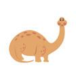 dinosaur brachiosaurus cartoon vector image