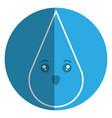 drop blood comic character vector image