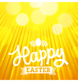 easter background rays orange vector image vector image