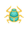 egyptian scarab beetle sacred bug a symbol of the vector image vector image