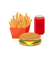 fast food flat group of vector image vector image