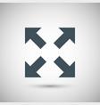 four blue arrow vector image vector image