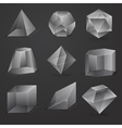 glass geometrical cubes vector image vector image