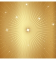 Gold Background with Stars and Rays vector image