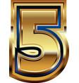 golden number 5 vector image vector image