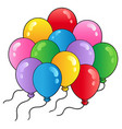 group of cartoon balloons 2 vector image vector image