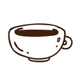 Hand Drawn Cup of Coffee vector image vector image