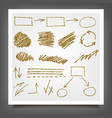hand drawn gold design elements vector image vector image