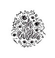 hand drawn lettering quote - oh my lashes vector image vector image