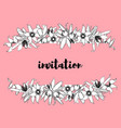 hand drawn vintage floral banner vector image vector image
