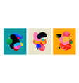handdrawn abstract set with colorful shapes vector image vector image