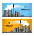 industrial enterprise banners vector image vector image