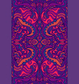 intricantle motley psychedelic ornament surreal vector image vector image