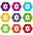 keyhole icons set 9 vector image vector image