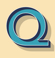letter q retro text style fonts concept vector image vector image