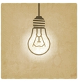 light bulb concept vintage background vector image vector image