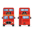 london double decker red bus cartoon vector image vector image