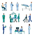 Medical professional people flat icons set vector image vector image