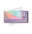 memphis style card colorful template vector image vector image