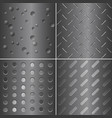 metal pattern - set four elements vector image