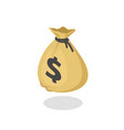money bag icon 3d isometric moneybag vector image