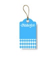 oktoberfest tag german beer festival flyer design vector image