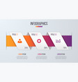 paper style infographic timeline design template vector image vector image