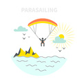 Parasailing Concept vector image