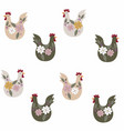 pattern with chicken for easter and other users vector image vector image
