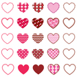 Patterned Hearts and Frames vector image vector image