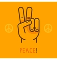 peace sign - hand showing two fingers vector image vector image