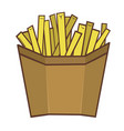 portioned french fries vector image vector image