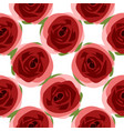 seamless floral background with rose flowers vector image vector image