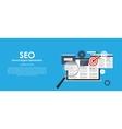 SEO Search Engine Optimazation vector image vector image