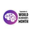 september is world alzheimer month concept vector image vector image