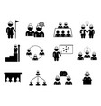 set business people teamwork icon logo vector image vector image