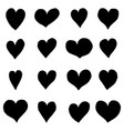 set hand drawn hearts design element for vector image vector image
