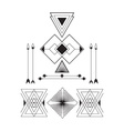 Set of geometric abstract figures with triangles vector image vector image