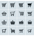 Shopping cart icons set Add to cart website vector image vector image