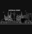 sidney silhouette skyline australia - sidney vector image vector image
