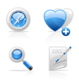 site navigation icons vector image vector image