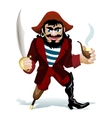 smilling pirat vector image