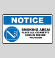 smoking permited in this place icon smoking area vector image vector image