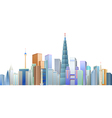 The construction of many buildings vector image vector image