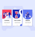 Time management vertical banners