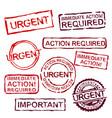 urgent stamps set vector image vector image