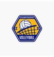 volleyball club badge logo-2 vector image vector image